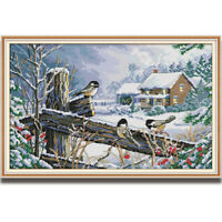 Counted Cross Stitch Kit Birds Animal Pattern Printed Unprinted 14CT 11CT