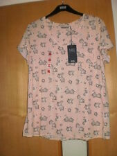 M & S Floral T-Shirt with Linen BNWT Size 24