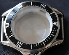 Seamaster style watch case, black bezel ETA 2824-2, ST2130, ST1612
