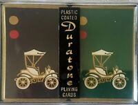 Duratone Plastic Coated Playing Cards Vintage City Cars 2 Decks And Case