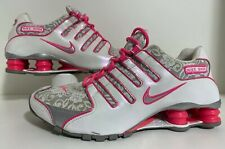 Women Nike Shox NZ White / Metallic Silver / Pink Flash LACE 311137-105 size 8