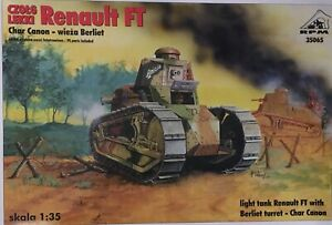 RENAULT FT 17 TANK WITH BERLIET TURRET AND CHAR GUN - RPM MODELS 1/35