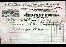 """POITIERS (86) MATERIEL AGRICOLE / FERS en gros """"SERVANT Freres"""" en 1919"""