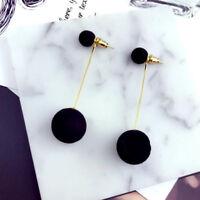 Fashion Plush Ball Drop Earrings For Women Korea Round Long Tassel Earrings