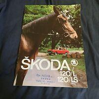 1979 Skoda S120L S120LS Color Brochure Catalog PROSPEKT