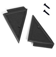 NEW 79-86 Mustang Mirror Inside Hole Covers Black Pair With Screws