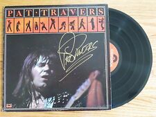 PAT TRAVERS BAND signed Debut 1976 Record COA BOOM BOOM Out Goes The Lights