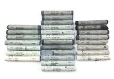 Soft Artists Pastels Rembrandt Lot of 27 Grey, Bluish, Green, Mouse Gray