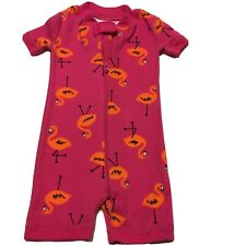 New Hanna Andersson Girls Pajamas Sz 3-6 Mos Pink Organic Cotton