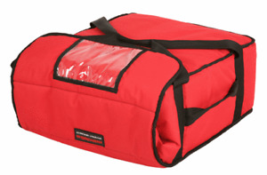 "Pizza Delivery Bag Insulated(Holds upto Five 16"" or Four 18"" Pizzas) Red"
