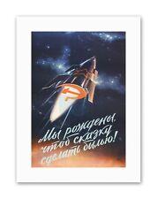 SOVIET USSR ROCKET SPACE SHIP Vintage Canvas art Prints