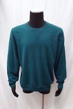 Bloomingdale's Men's Crewneck Cashmere Sweater, Aquamarine, XL