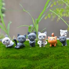 Angry Cat Figures Decor Miniature Figurine Mini Fairy Garden Resin Craft HU