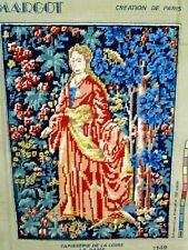 TAPESTRY COMPLETED MARGOT TAPISSERIE DE LA LOIRE LA DAME 1149