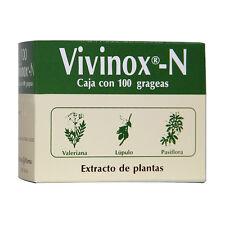 Vivinox ~ N 100 Tablets~Valeriana Lùpulo Pasiflora~Original~Quality~Product