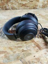 A1~used~Razer Kraken Pro V2 Wired Gaming Headset Black~mic doesn't work