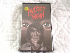 TWISTED BRAIN VHS VCI CLAMSHELL 70'S HORROR HIGH SCHOOL JEKYLL HYDE NERD MURDER