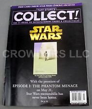Tuff Stuff's Collect! March 1999 - Star Wars Episode 1 Phantom Menace Cover USA