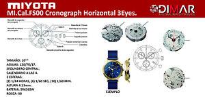 Movement MIYOTA Cal. FS00 Cronograph Horizontal 3EYES