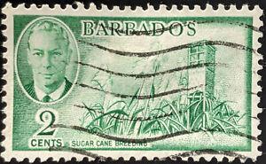 Stamp Barbados SG272 1950 2c Sugar Cane Breeding Used