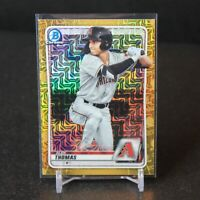 2020 Bowman Chrome Gold Mojo Refractor Alek Thomas #'d 37/50 - Diamondbacks