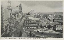 Montevideo Uruguay ~ Avenida 18 de Julio y el Cerro ~ Vintage Postcard