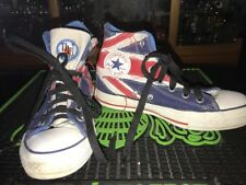 Union Jack FLAG CHUCK TAYLOR CONVERSE HIGH TOPS Sneakers Shoes The Who  M 5 w 7