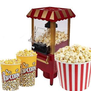 Fat-Free Hot Air Carnival Popcorn Maker Popper Machine Retro 30's Style Healthy