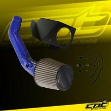 For 12-15 BMW 335i F30 Sedan 3.0L (AT) Blue Cold Air Intake + Black Filter Cover