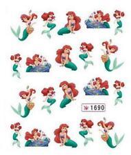 Mermaid Princess Ariel Nail Art Sticker Decal Decoration Manicure Water Transfer