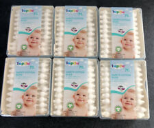 6x 70 Organic Safety Cotton Ear Buds - For Safe & Gentle Cleaning: Baby & Family