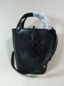 NEW Tory Burch Black Miller MINI Bucket Tote $348