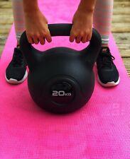 BENCH 20kg Vinyl Kettlebell Black *BRAND NEW* Fitness Home Gym48h Courier