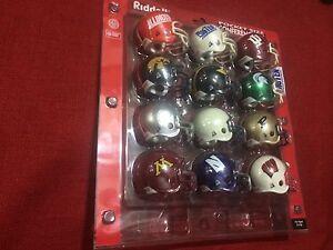 Riddell pocket pro helmets Big 10 complete set TRADITIONAL style