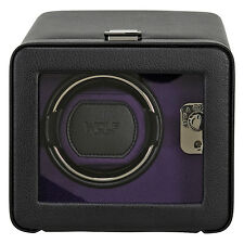 Wolf Designs Windsor Purple/Black Single Watch Winder with Cover 452503