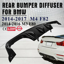 Carbon Fiber Rear Bumper Diffuser Lip Body kits Fit for BMW F80 M3 F82 M4 15-17