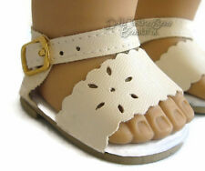 """Doll Clothes fits 18"""" American Girl Ivory Colored Sandals Shoes"""