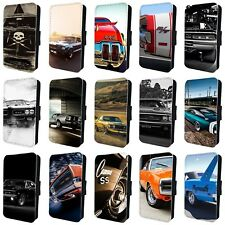 AMERICAN MUSCLE CARS MUSTANG CHARGER FLIP PHONE CASE COVER for iPHONE 5 6 7 8 x