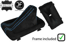 BLUE STITCH REAL SUEDE GEAR BOOT WITH PLASTIC FRAME FOR AUDI A4 B8 08-2015 DSG