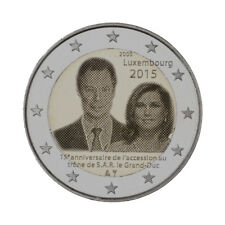 "Luxembourg 2 Euro commemorative coin 2015 ""Accession to the throne"" UNC"