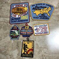 vintage boy scout patch lot 1990s Jamboree Gulf Ridge Reservation BSA Camp Milrs