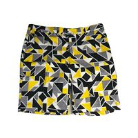 Loudmouth Golf Shorts Grey Yellow Abstrcact Argyle Mens Size 38