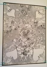 original vintage poster psychedelic Collage Heart Devil Eye Door Animal 60s trip