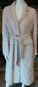 Vince. Wool/Alpaca/Mohair Belted Mid Calf Pale Dust Pink Coat NWT $695 Size L