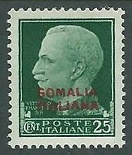 1931 SOMALIA EFFIGIE 25 CENT LUSSO MH * - K154