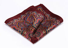 Handkerchief 100% Natural Silk Satin Mens Hanky Wedding Party Pocket Square