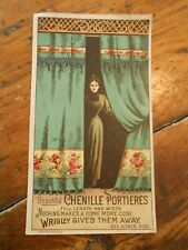 Wrigley's Gum Free Premium Chenille Portieres (Curtains) Victorian Trade Card