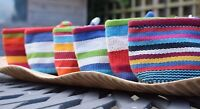 Woven Cotton Fair Trade Zip Coin Purse Vietnam Bright Multi Stripes Gift