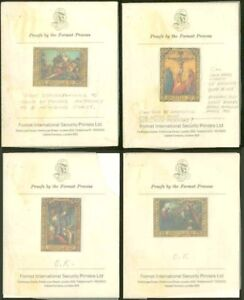 Anguilla 1970 Easter Paintings PROOFS/PRESENTATION CARD