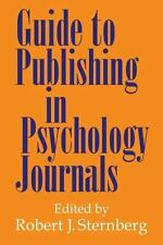 Sternberg (2000) Guide to Publishing in Psychology Journals NEW